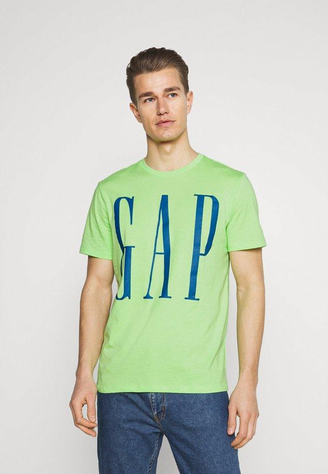 CORP LOGO  - Print T-shirt - neon lime zest