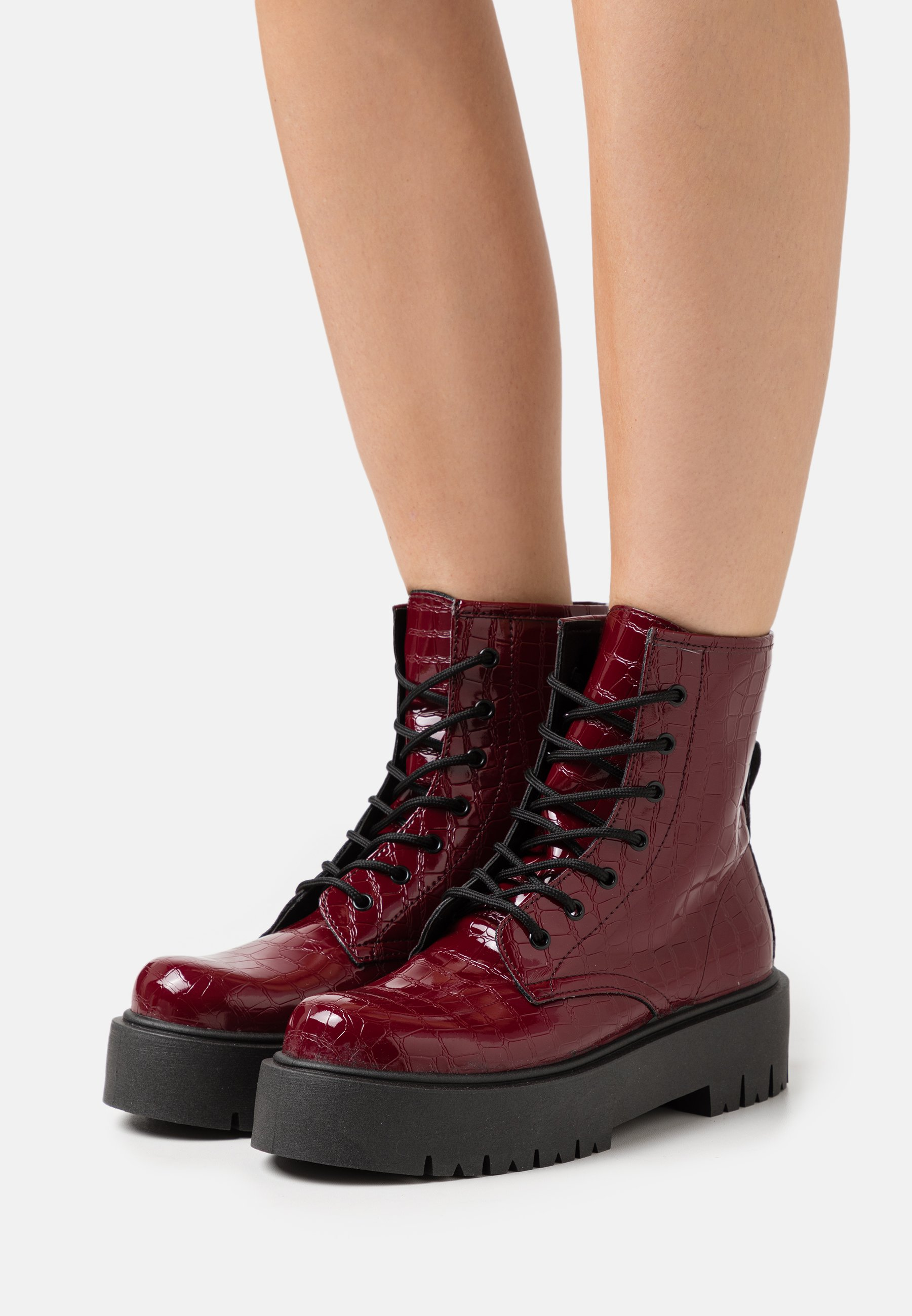 Women BILLY LACE UP BOOT - Platform ankle boots