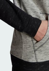 adidas Performance - SMALL LOGO - Felpa con zip - grey - 4