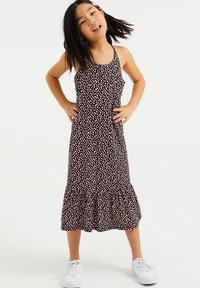 WE Fashion - MET STIPPENDESSIN - Jersey dress - black - 0