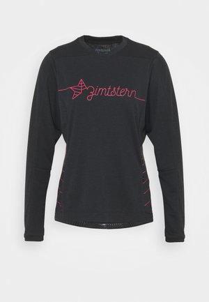 ECOFLOWZ  WOMENS - Long sleeved top - pirate black/jester red