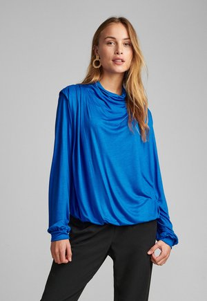 NUBELLEZZA BLOUSE - Long sleeved top - blue