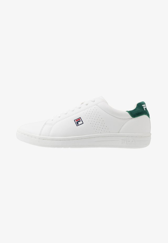 CROSSCOURT 2 F LOW - Obuwie treningowe - white/greener pastures