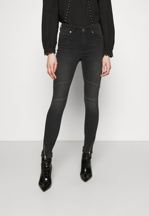 ONLBLUSH CUT LIFE MID - Jeans Skinny Fit - dark grey denim