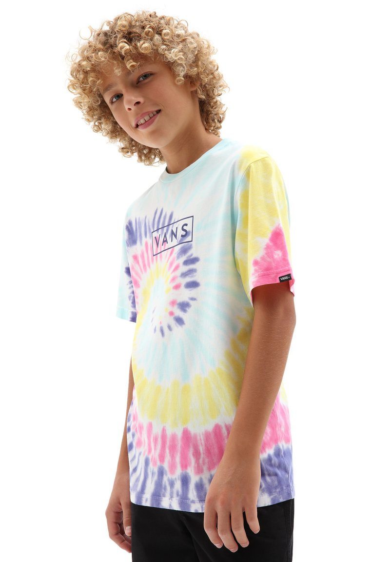 Vans - BY TIE DYE EASY BOX TEE BOYS - Print T-shirt - rainbow (spectrum)tie dye