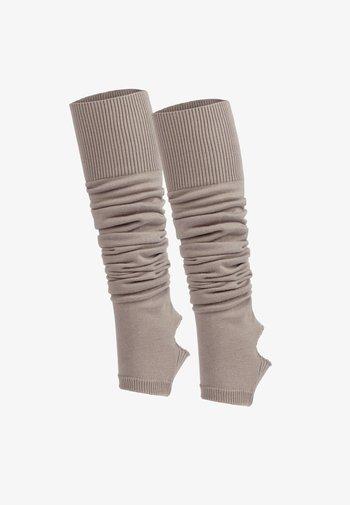 Leg warmers - beige