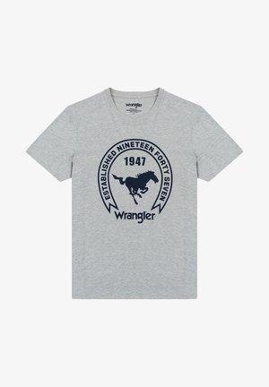 Print T-shirt - mid grey mel