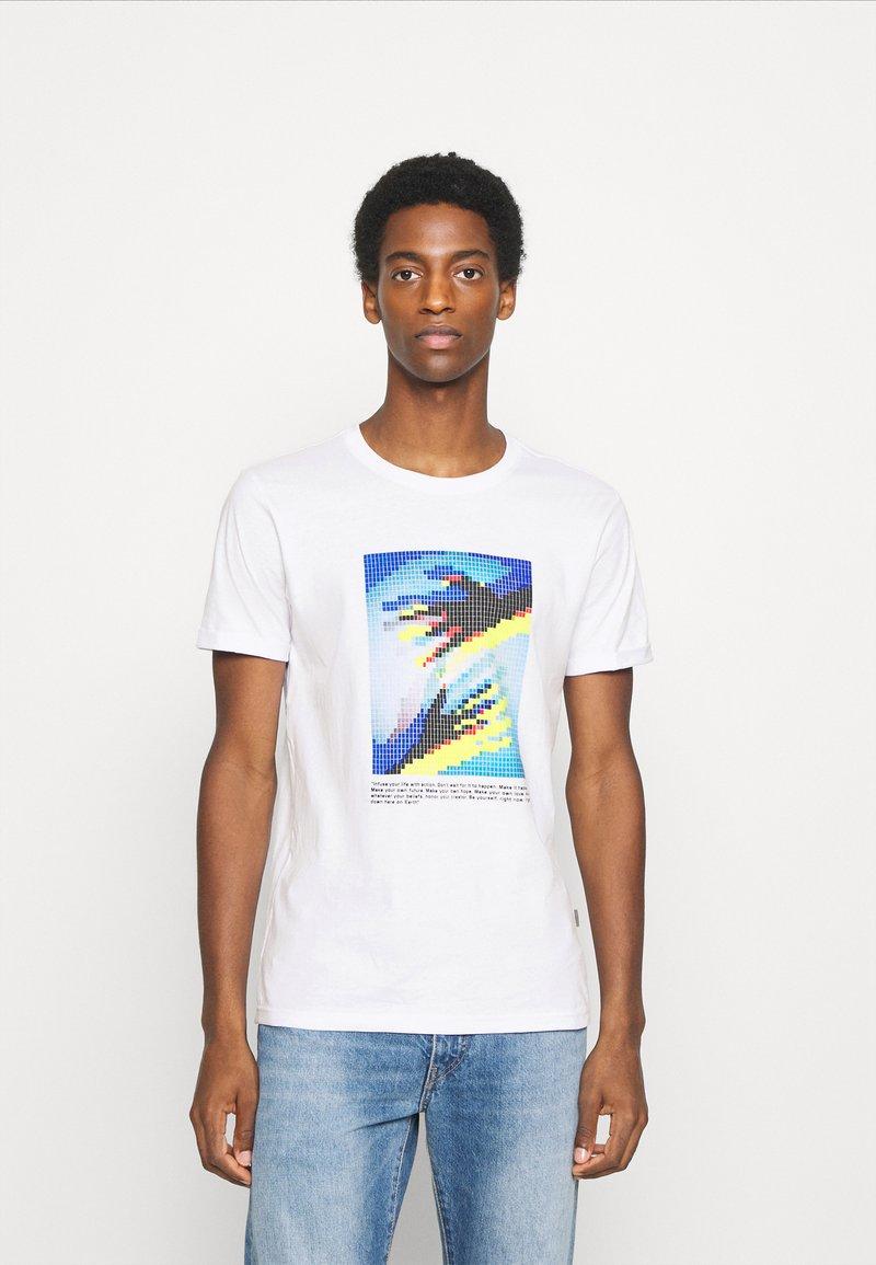 Solid - Print T-shirt - white