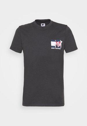 ABO TJU X MTV TEE UNISEX - T-shirt med print - blackout