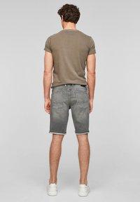 Q/S designed by - Denim shorts - grey - 2