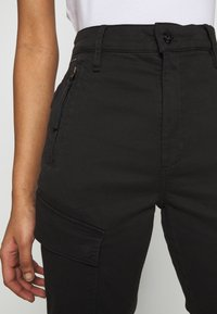 G-Star - HIGH G-SHAPE CARGO SKINNY PANT - Cargo trousers - dk black gd - 5