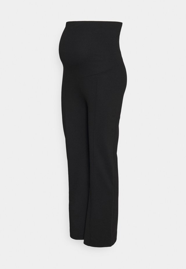 CROPPED SLACKS - Pantalones - black