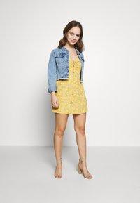 Miss Selfridge Petite - BUTTON MILKMAID TEA DRESS - Day dress - ochre - 1