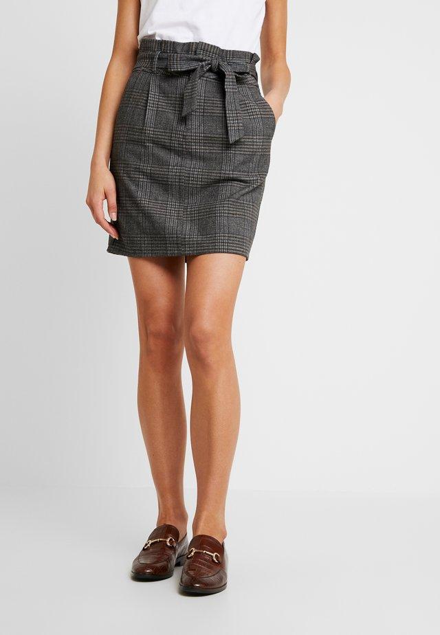 Pantaloni - dark grey melange/grey/brown