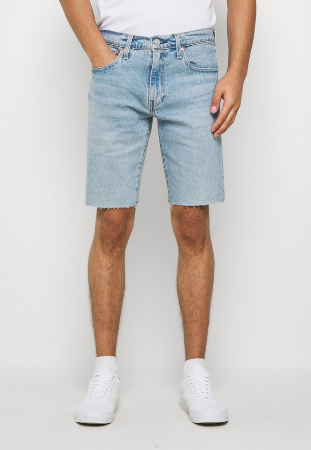 SLIM SHORT - Farkkushortsit - light-blue denim