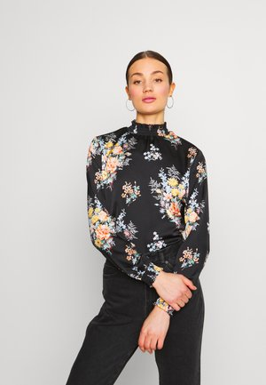 VIALBA NEW - Blusa - black /multi-coloured