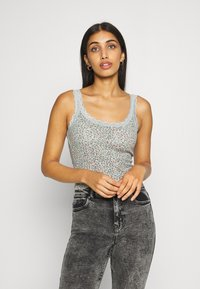 BDG Urban Outfitters - TRIM TANK DITSY - Topper - seafoam - 0
