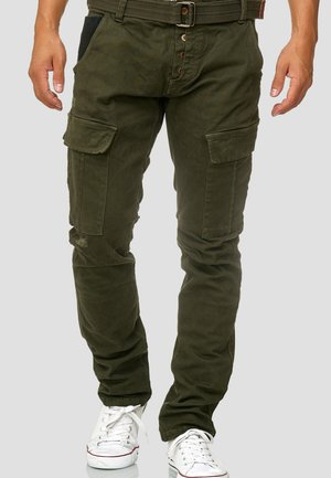 RAYANE - Cargobroek - dark green