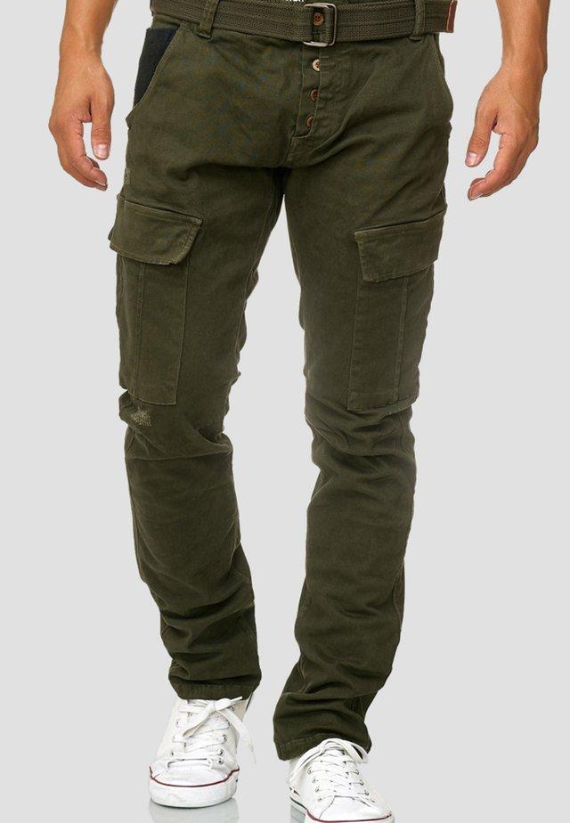 RAYANE - Cargo trousers - dark green