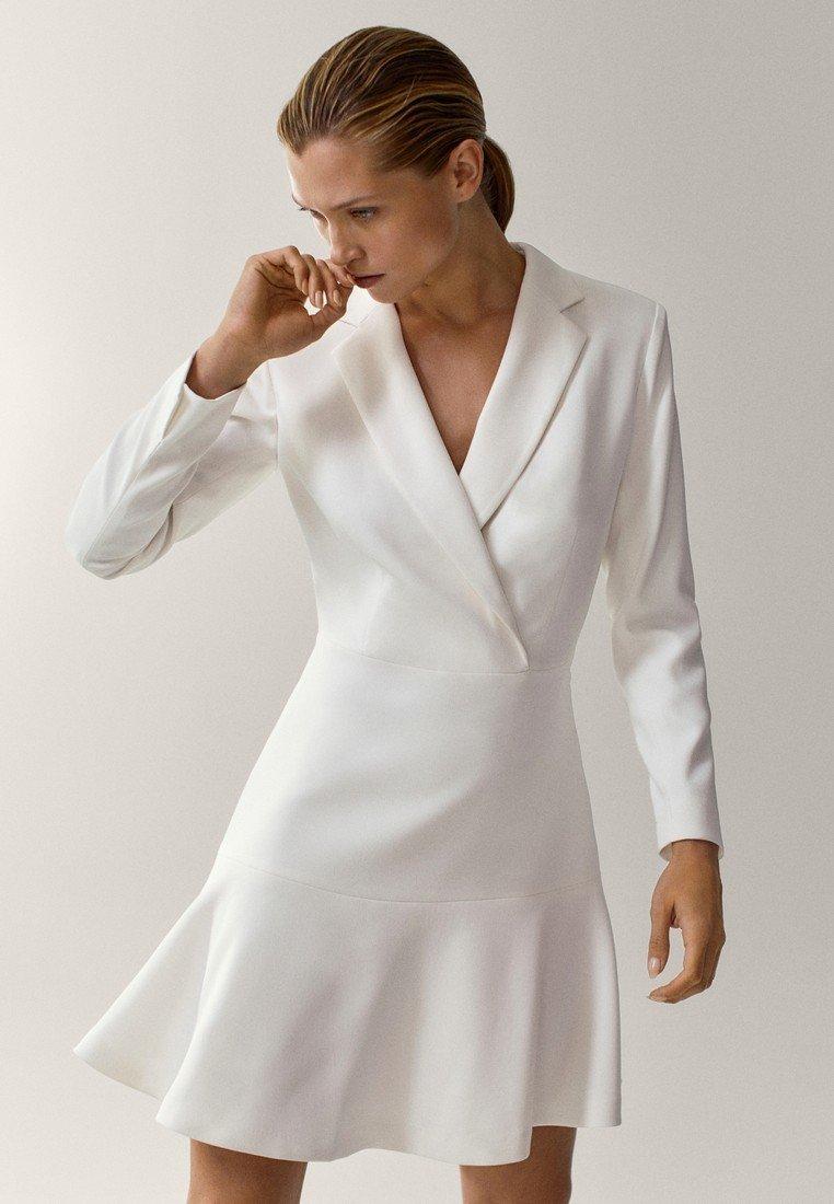 Massimo Dutti - MIT VOLANT - Day dress - white
