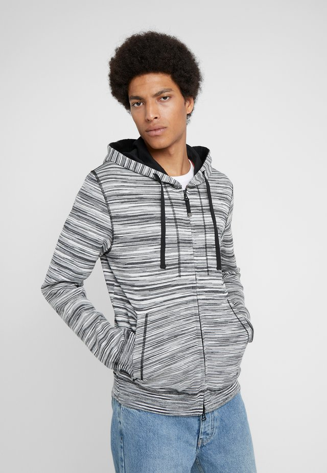CARDIGAN - veste en sweat zippée - black/white