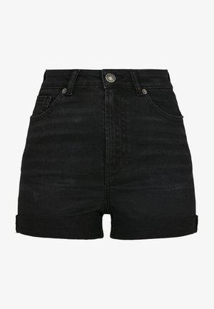 Denim shorts - real black washed
