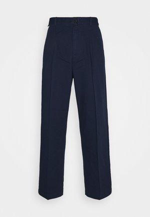 BELTED TROUSER - Pantaloni - blue