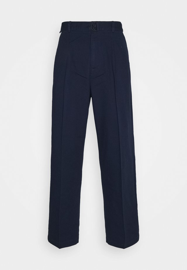 BELTED TROUSER - Pantalon classique - blue