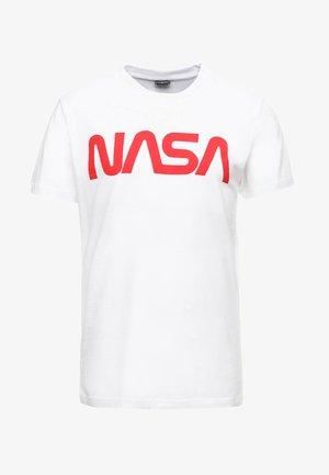 NASA WORM TEE - T-shirt print - white