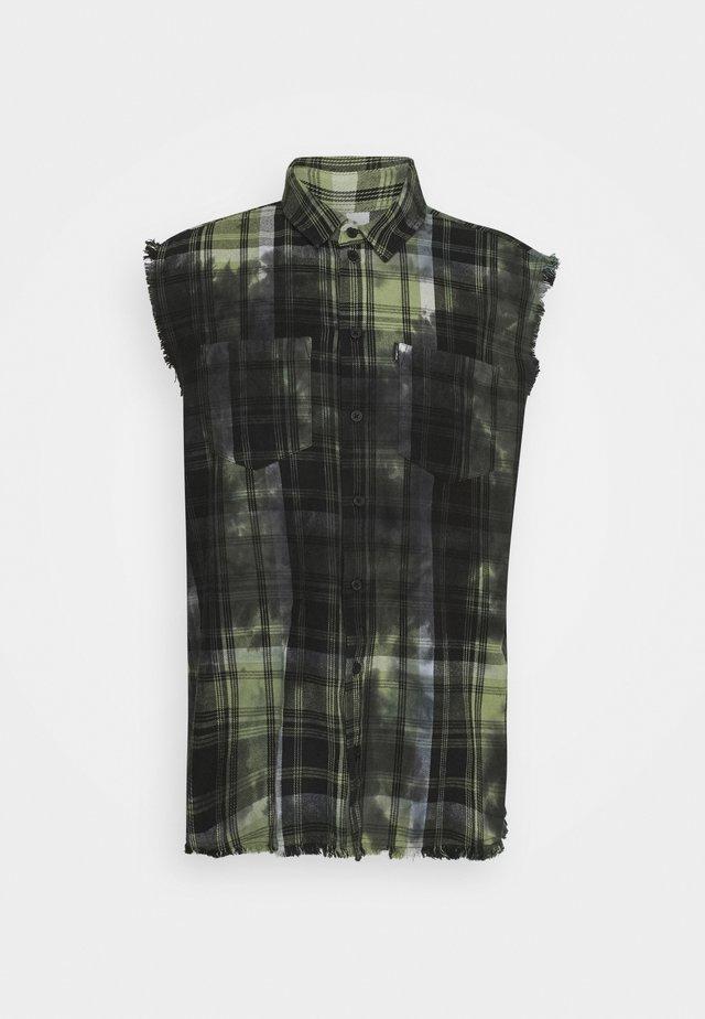 MARENO - Overhemd - mosstone/black
