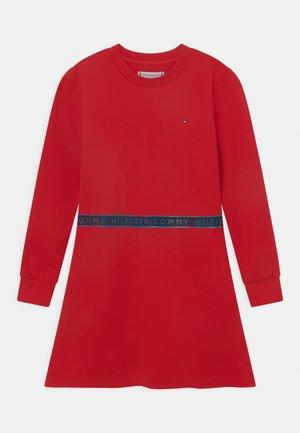 TAPE - Jersey dress - deep crimson