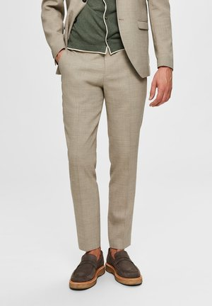SELECTED HOMME ANZUGHOSE SLIM FIT - Trousers - sand