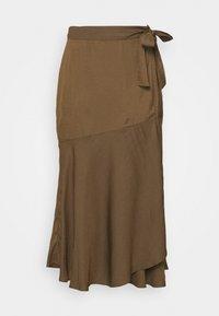 Banana Republic - WRAP FLOUNCE MIDI - Wrap skirt - heritage olive - 3
