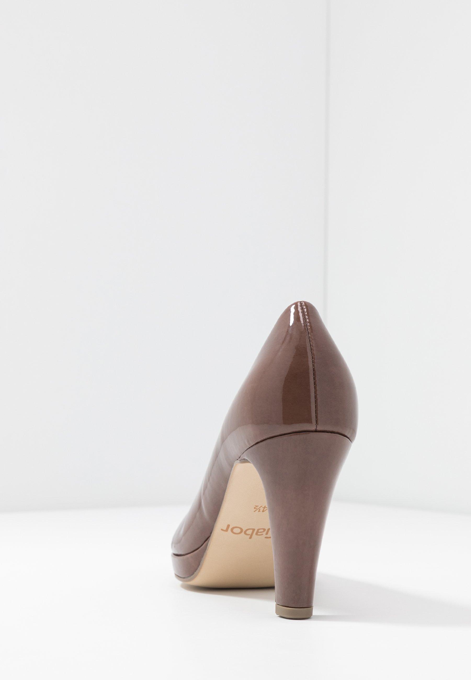 Gabor High Heel Pumps - Dark Nude/nude