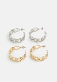 PCBOO HOOP EARRINGS 2 PACK - Earrings - gold-coloured/silver-coloured