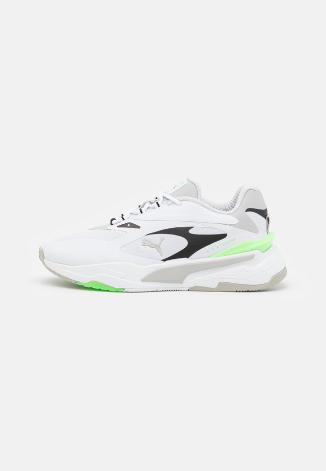 RS-FAST TECH UNISEX - Sneakers basse - white/gray violet/elektro green