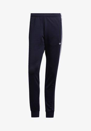 STRIPES WRAP TRACKSUIT BOTTOMS - Teplákové kalhoty - blue