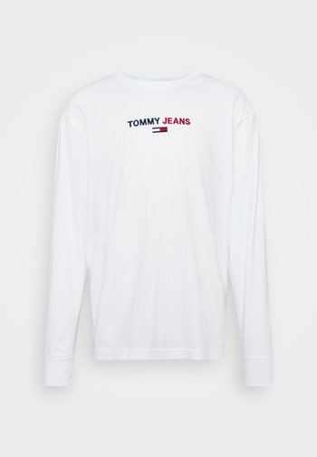 CONTRAST LINEAR  - Long sleeved top - white