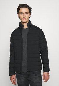 Abercrombie & Fitch - PUFFER JACKET - Light jacket - black - 0
