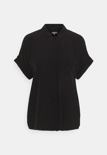 EASY FIT - Button-down blouse - deep black