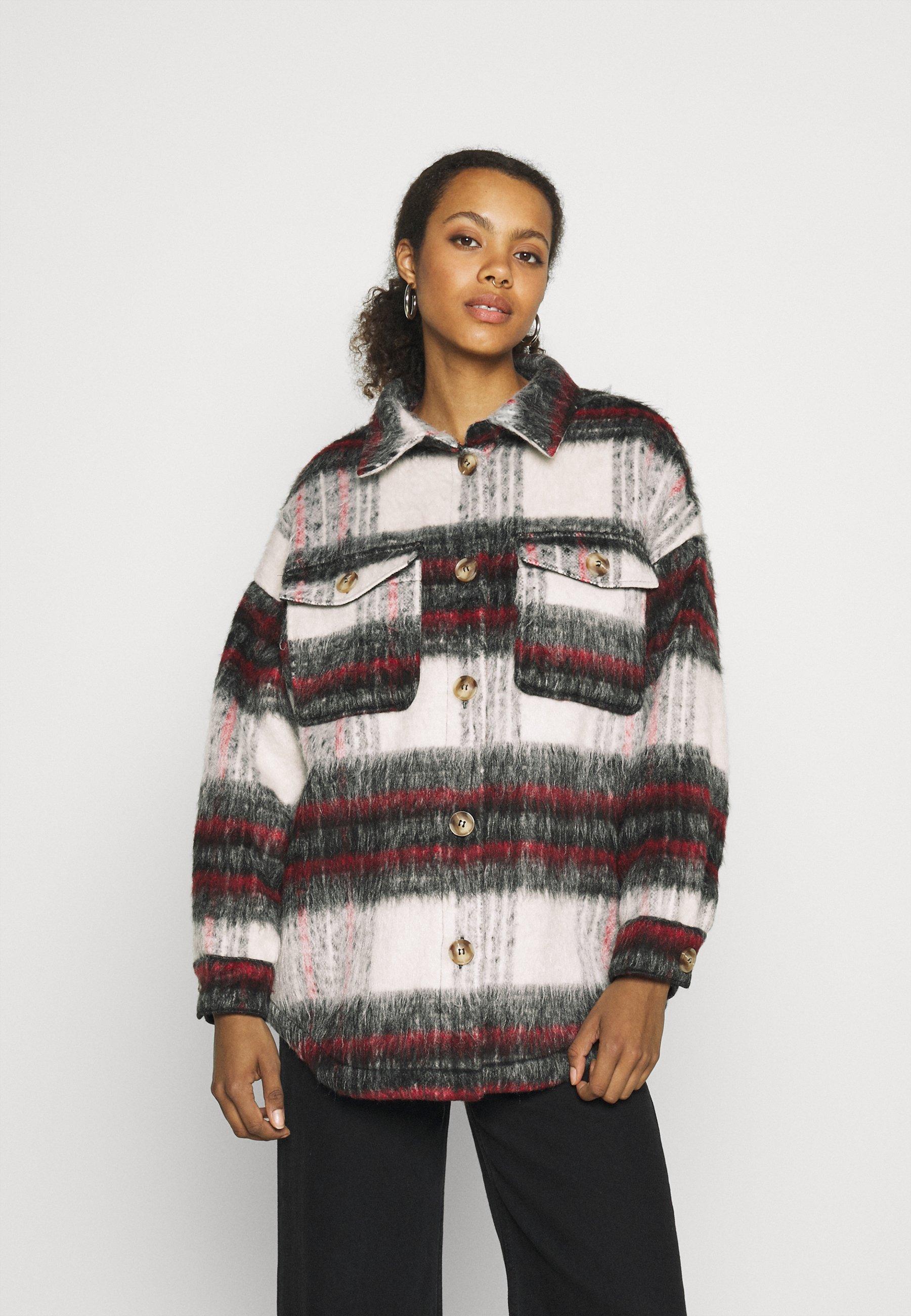 Women ONLTERRESA CHECK SHACKET - Summer jacket