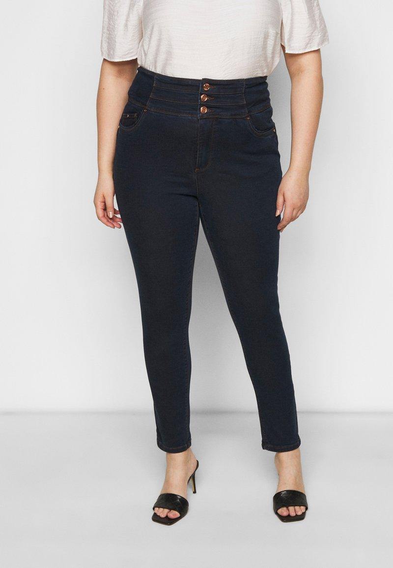 Simply Be - SHAPE SCULPT SUPER HIGH WAIST  - Jeans Skinny Fit - dark indigo