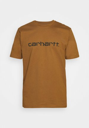 SCRIPT - T-shirt print - hamilton brown/black