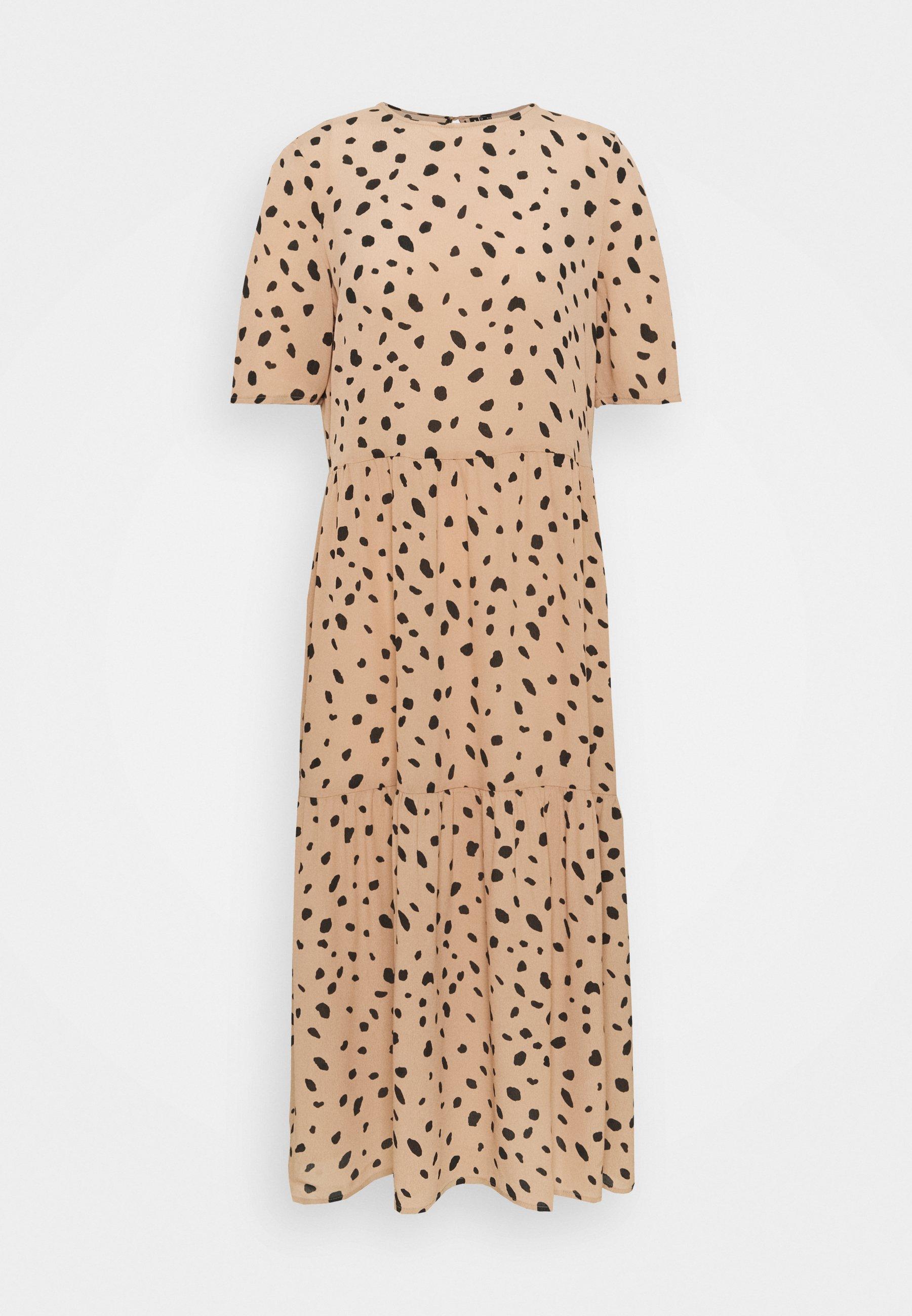 Women VMMEGGA O NECK CALF DRESS - Day dress