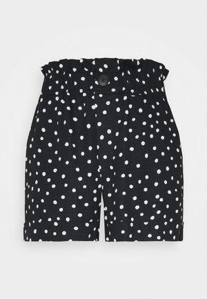 FRILL PAPERBAG SHORTS - Šortky - white/black