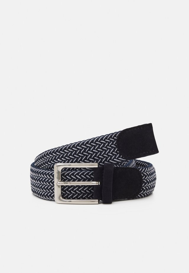 SLHFRANK WEBBED BELT - Belte - dark navy