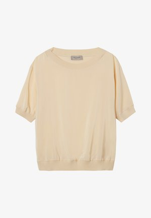 Print T-shirt - crema