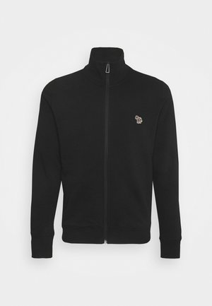 MENS REG FIT ZIP TOP - veste en sweat zippée - black