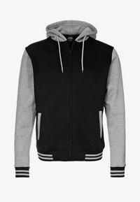 Urban Classics - 2-TONE ZIP HOODY - Zip-up hoodie - black/grey - 4