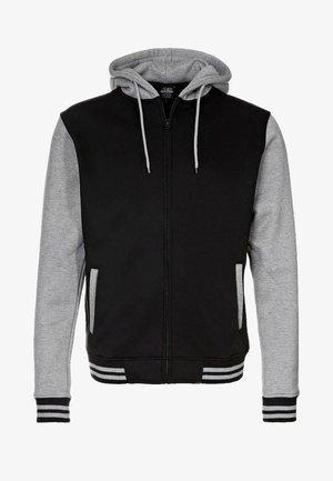 2-TONE ZIP HOODY - Zip-up hoodie - black/grey